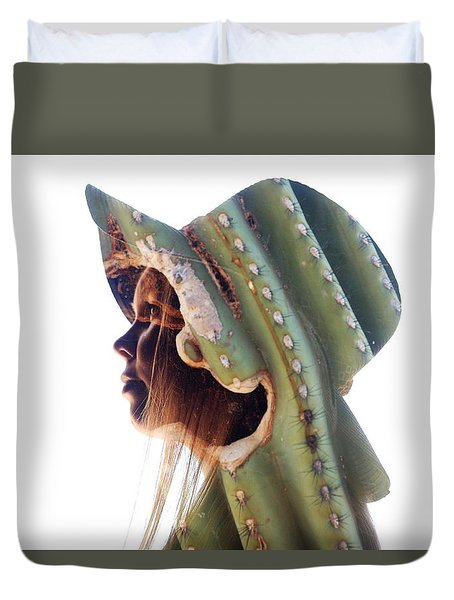 Cactus Suit Of Armor Duvet Cover
