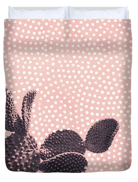 Cactus With Polka Dots Duvet Cover