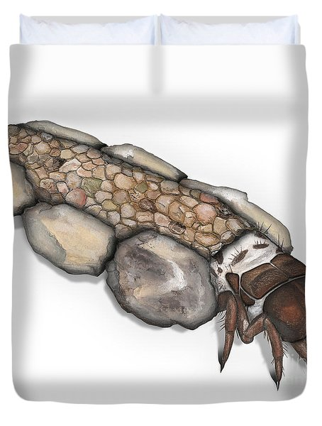 Caddisfly Larva Nymph Goeridae_silo_pallipes -  Duvet Cover