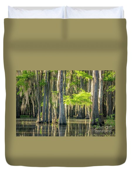 Caddo Swamp 1 Duvet Cover
