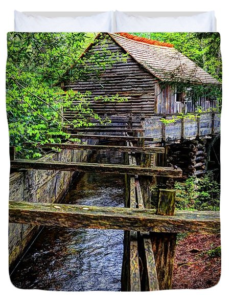 Cades Cove Grist Mill In The Great Smoky Mountains National Park  Duvet Cover