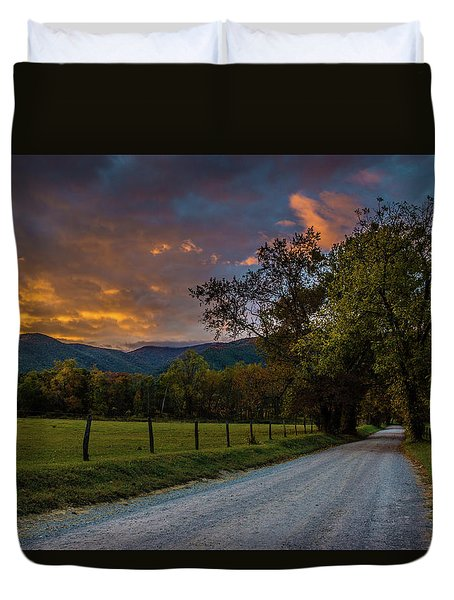 Duvet Cover featuring the photograph Cades Cove Sunrise by Michael Sussman
