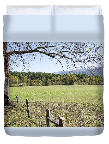 Cades Fence Duvet Cover by Ricky Dean