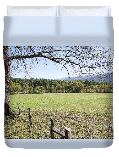 Cades Fence Duvet Cover