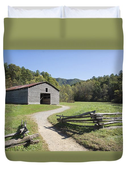 Cades Stables Duvet Cover by Ricky Dean