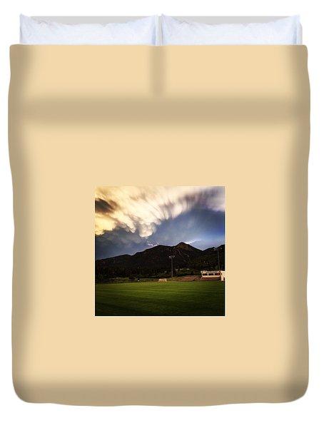 Cadet Soccer Stadium Duvet Cover by Christin Brodie