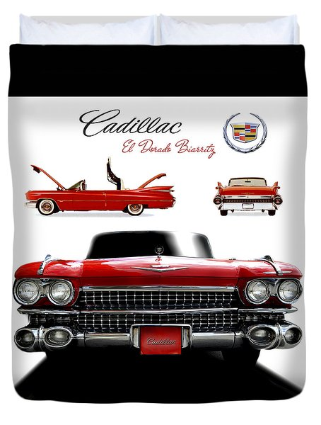 Duvet Cover featuring the photograph Cadillac 1959 by Gina Dsgn