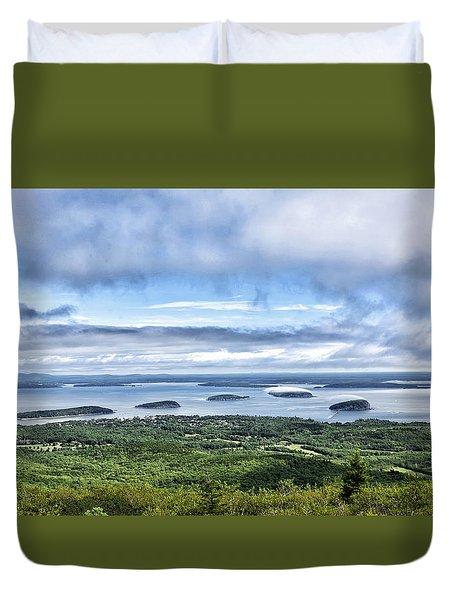 Cadillac Mountain View - Acadia National Park Duvet Cover