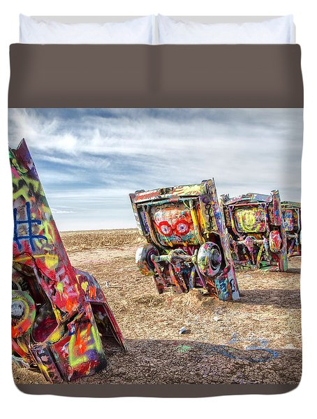 Cadillac Ranch 1 Duvet Cover