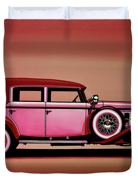 Cadillac V16 Mixed Media Duvet Cover