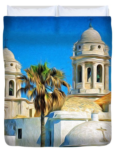 Cadiz Cathedral Duvet Cover by Sue Melvin