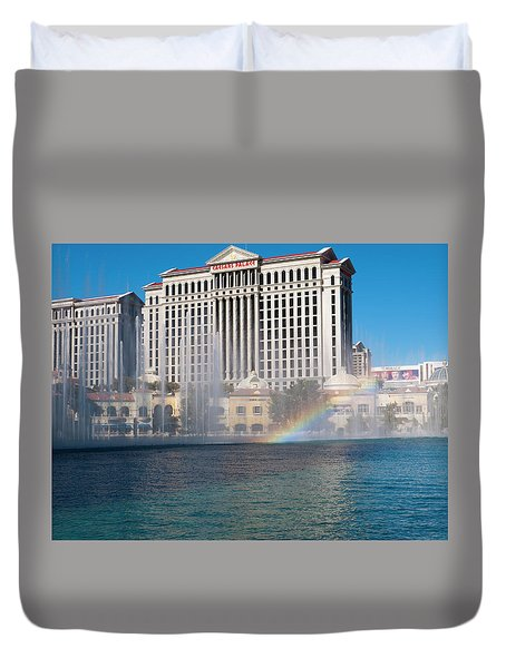 Caesar's Rainbow Duvet Cover by Rae Tucker