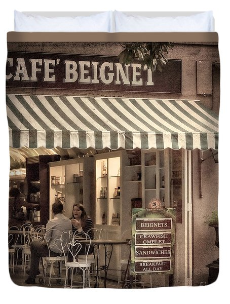 Cafe Beignet 2 Duvet Cover by Jerry Fornarotto