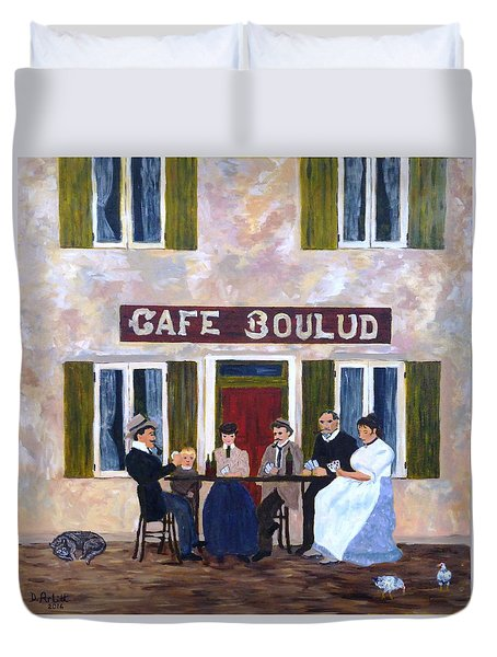 Cafe Boulud Duvet Cover