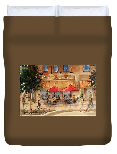 Cafe Chocolate Duvet Cover