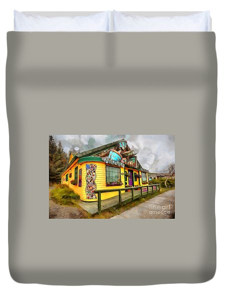 Cafe Cups Duvet Cover