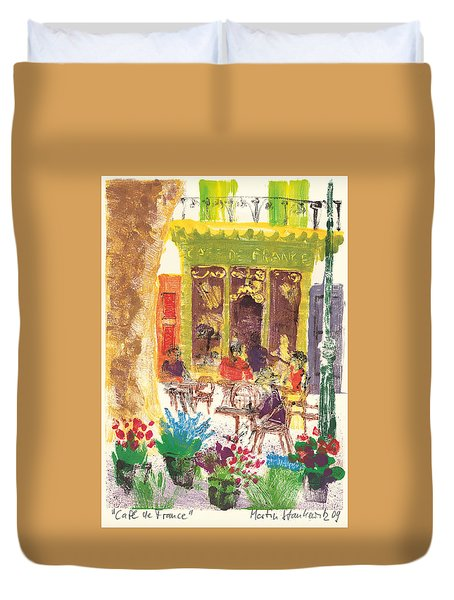Cafe De France Duvet Cover by Martin Stankewitz