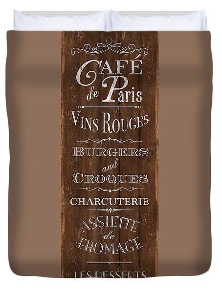 Cafe De Paris 1 Duvet Cover