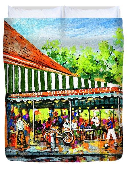 Cafe Du Monde Lights Duvet Cover