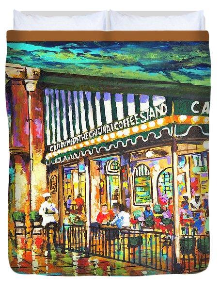 Cafe Du Monde Night Duvet Cover