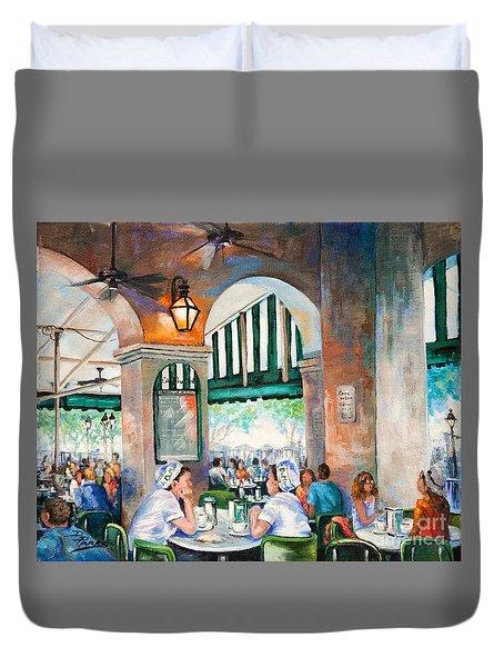 Cafe Girls Duvet Cover