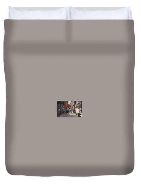 Cafe Lodo Duvet Cover
