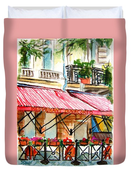 Cafe On The Danube Duvet Cover