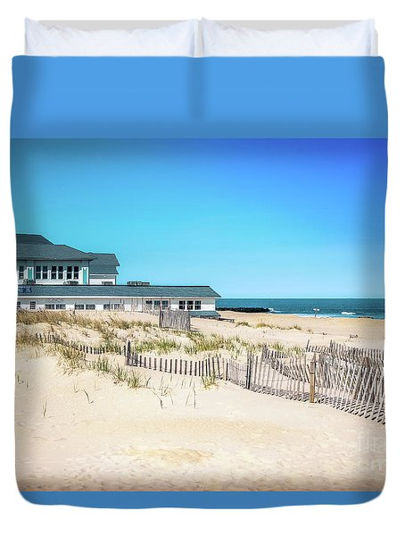 Cafe On The Dunes Duvet Cover