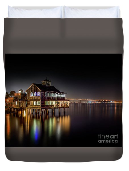 Cafe On The Port Duvet Cover