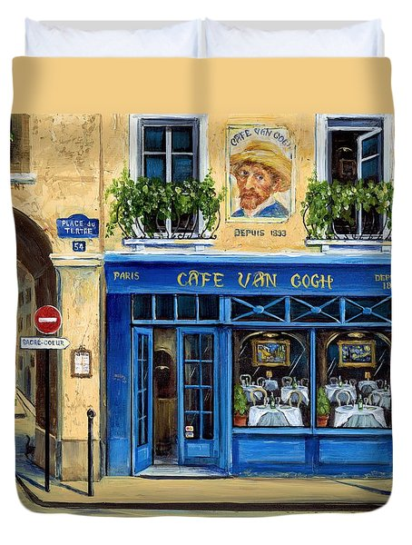 Cafe Van Gogh II Duvet Cover by Marilyn Dunlap