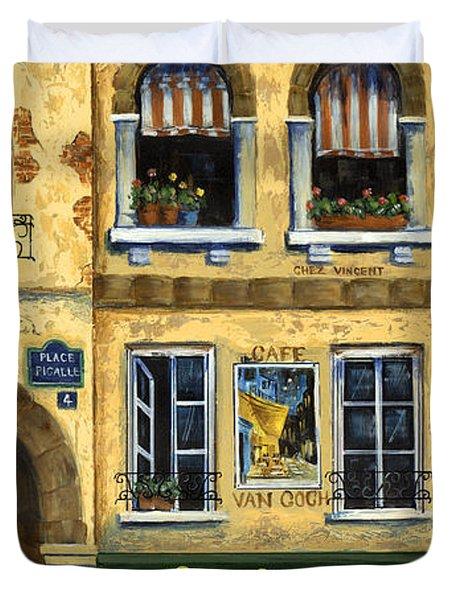 Cafe Van Gogh Paris Duvet Cover