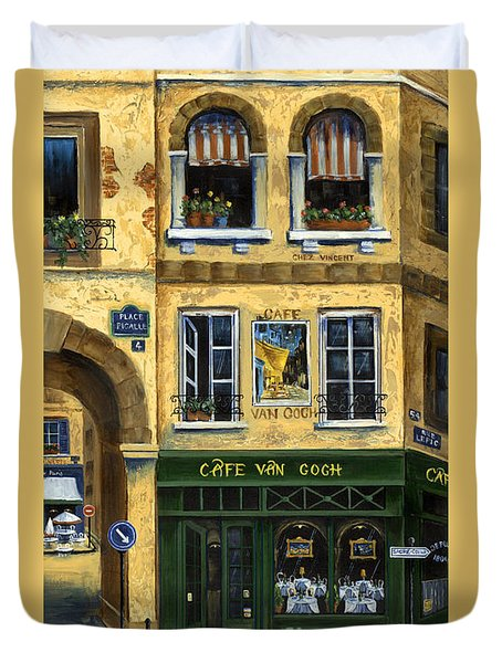 Cafe Van Gogh Paris Duvet Cover by Marilyn Dunlap