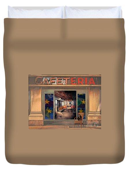 Cafeteria Duvet Cover by Mojo Mendiola