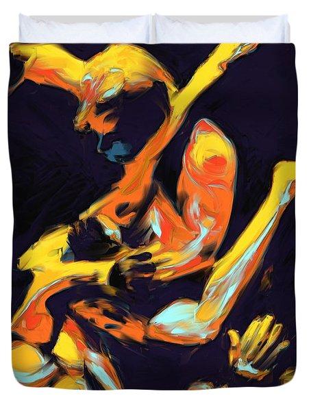 Cage Fighters Duvet Cover by Deborah Lee