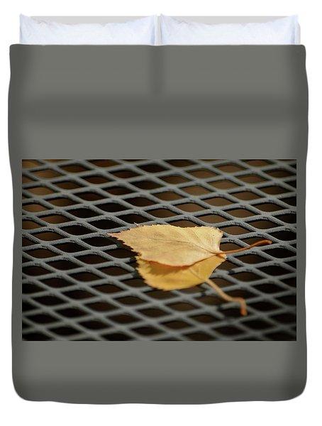 Caged Leaf Duvet Cover