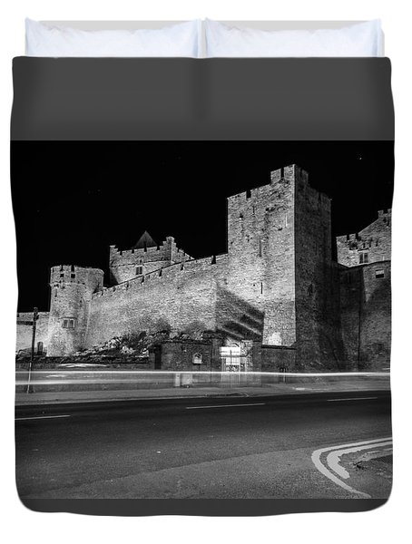 Cahir Castle At Night Duvet Cover