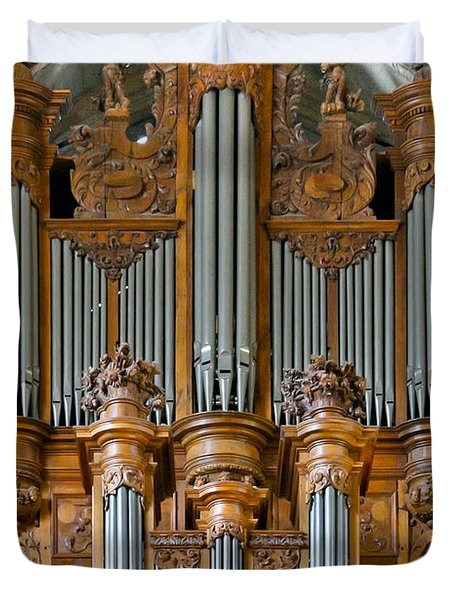 Cahors Cathedral Organ Duvet Cover