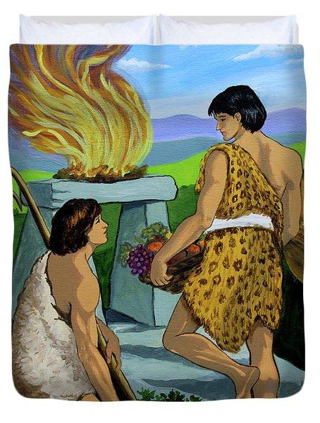 Cain And Abel Duvet Cover by Karon Melillo DeVega