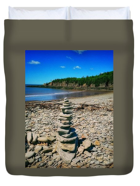 Cairn In Eastern Canada Duvet Cover