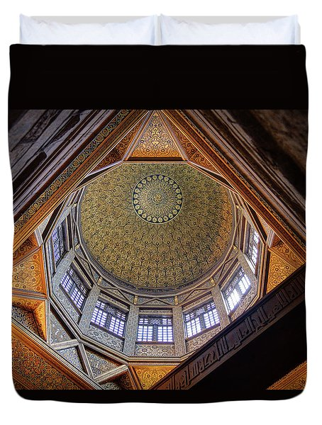 Cairo Nilometer Duvet Cover by Nigel Fletcher-Jones