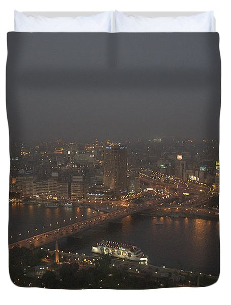 Cairo Smog Duvet Cover by Darcy Michaelchuk