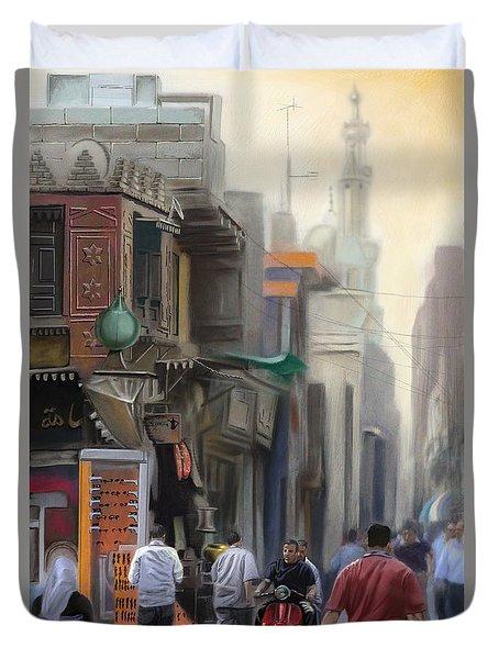 Cairo Street Market Duvet Cover