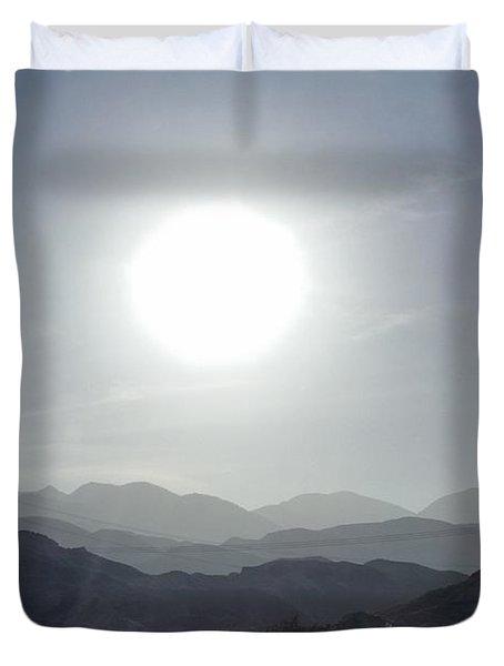 Cajon Pass Sunset Duvet Cover