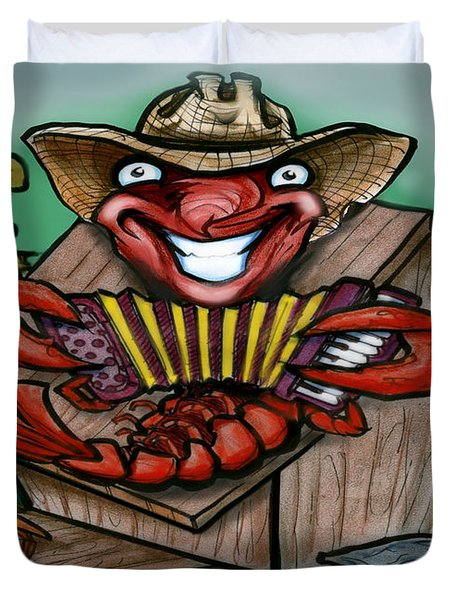 Cajun Critters Duvet Cover by Kevin Middleton