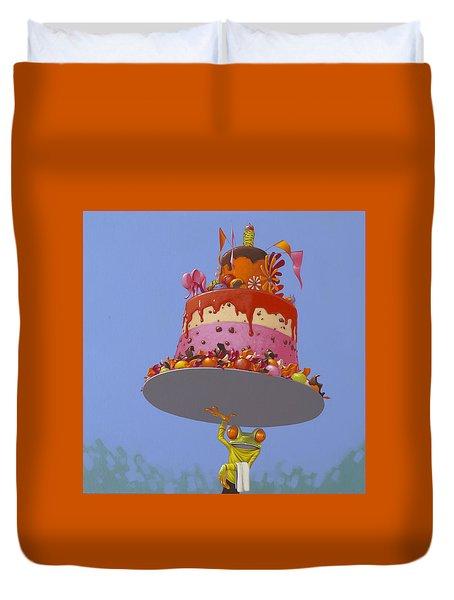Cake Duvet Cover by Jasper Oostland