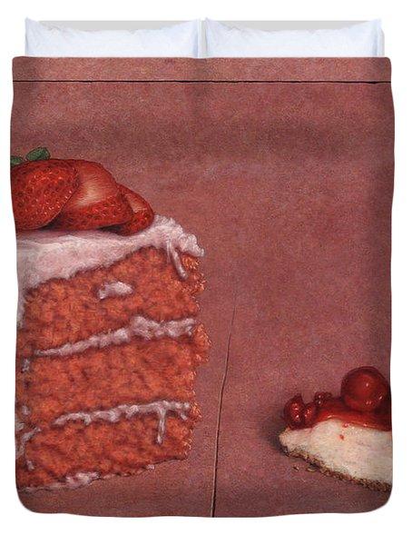 Cakefrontation Duvet Cover by James W Johnson