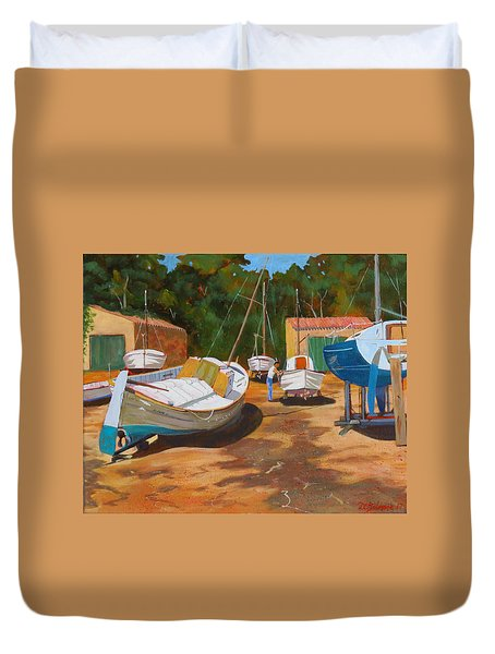Cala Figuera Boatyard - I Duvet Cover