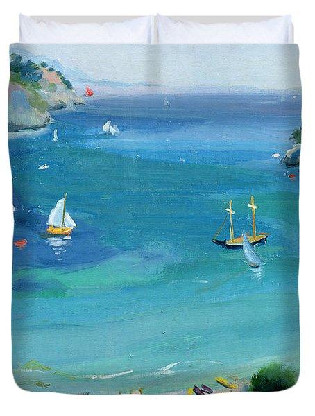 Cala Galdana - Minorca Duvet Cover by Anne Durham