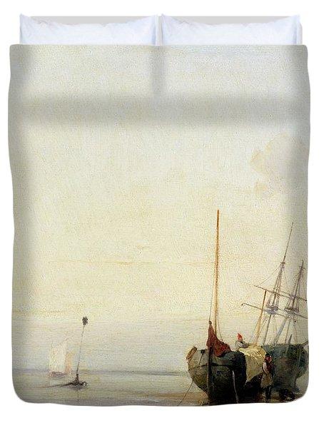 Calais Pier Duvet Cover by Richard Parkes Bonington