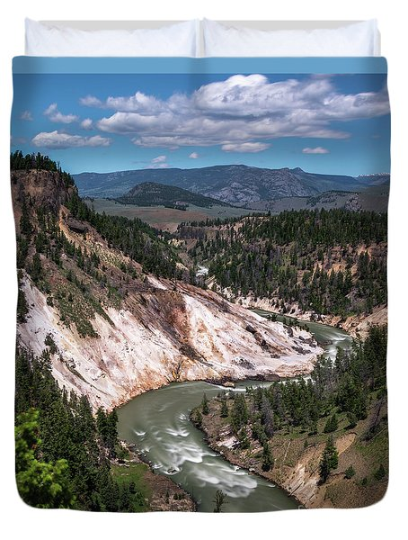 Calcite Springs Overlook  Duvet Cover